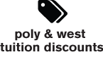 Poly & West Tuition Discounts
