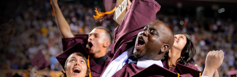 ASU graduation day photo